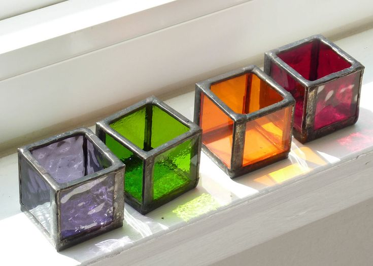 stained glass cubes