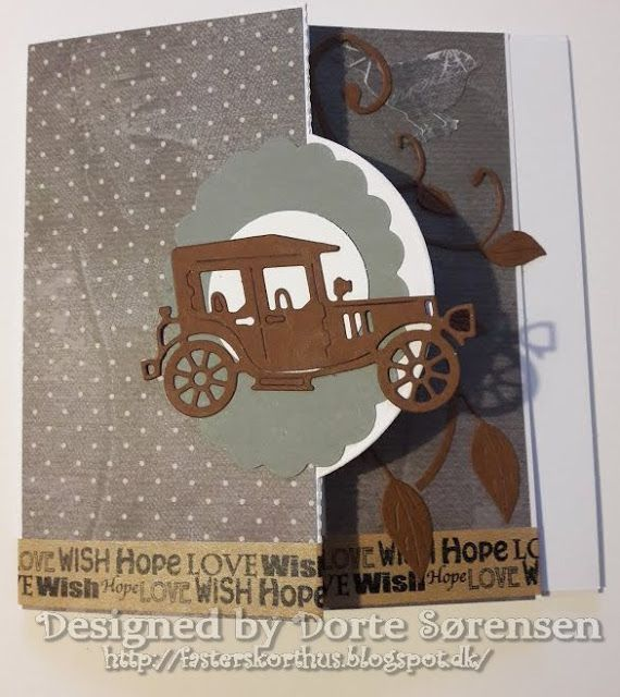 Fasters korthus: CAR on pop up card 2