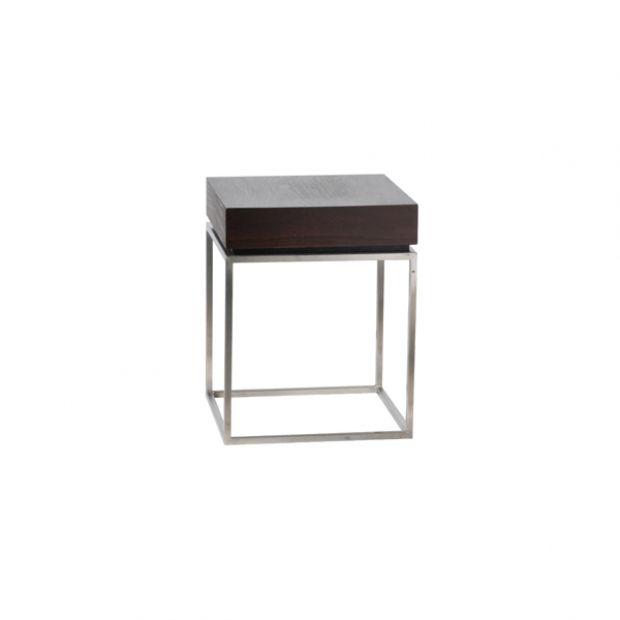 Zinzo coffee table mit Massif braun L40*B40*H50 cm