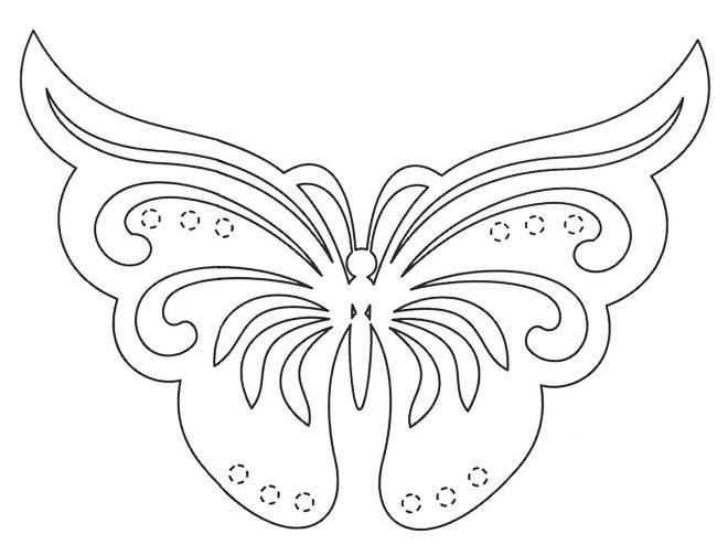 Открытка с трафаретом бабочки, день рождение узбагойся
