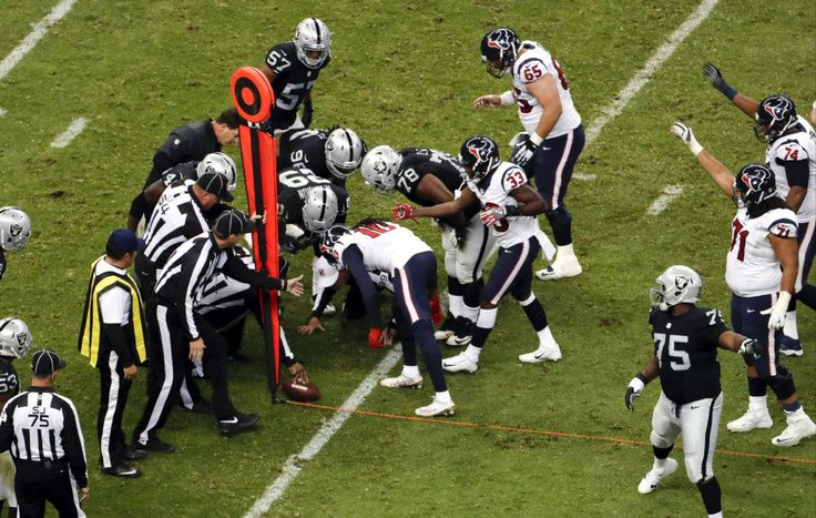 Texans have legitimate gripe against officiating crew after MNF loss = It wasn't exactly El Santo vs. Blue Demon at Arena Mexico but the Houston Texans and Oakland Raiders had a chance to ignite a rivalry on Monday night at Estadio Azteca considering both were division leaders in the AFC coming in and.....