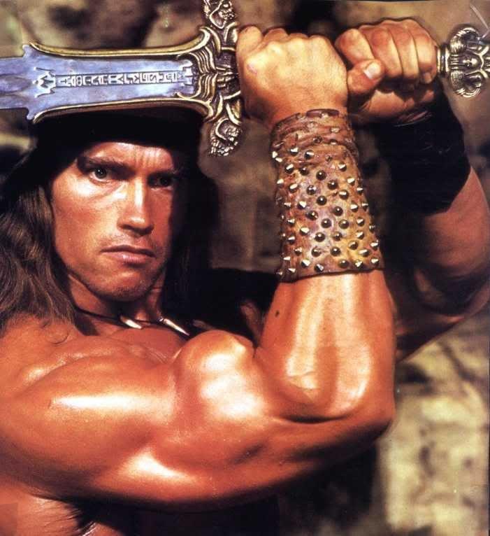 The original Conan the Barbarian movies.... starring Arnold