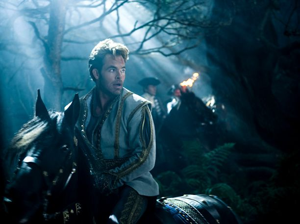 "Chris Pine as Cinderella's prince in ""Into the Woods"" Ugh I don't really like Chris Pine though....:/"