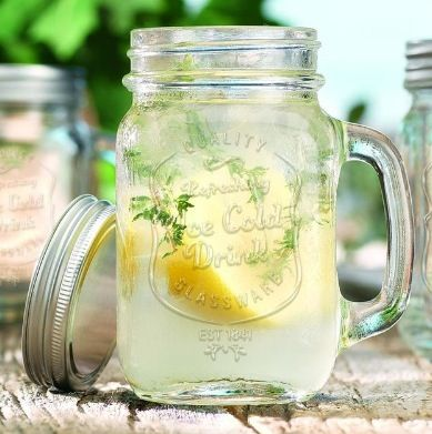 Ice Cold Mason Jar Drinking Glasses $16.99 http://www.houzz.com/photos/10955414/Ice-Cold-Mason-Jar-Drinking-Glasses-traditional-cups-and-glassware-