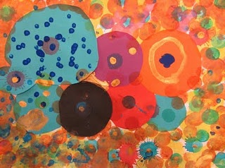"""Great Kindergarten Lesson on """"The Dot"""" also look at """"Dots"""" in other art -- Aboriginal Art, Georges Seurat, Kandinsky."""