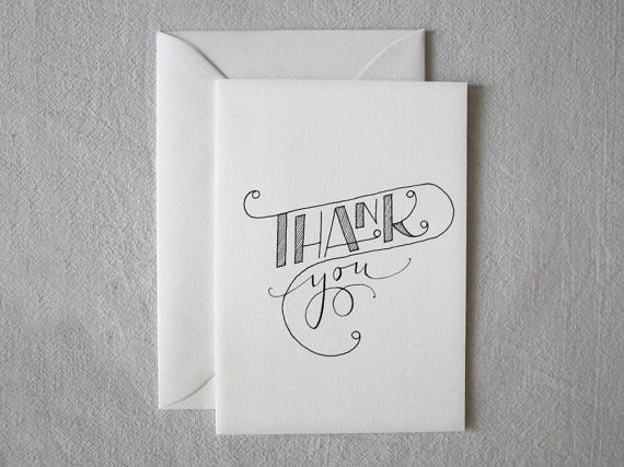 Card Thank You Hand Drawn, Customized card by hand