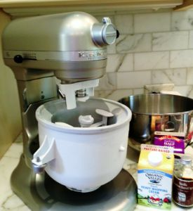 The essentials for homemade ice cream. Thanks @KitchenAid  for the ice cream attachment!