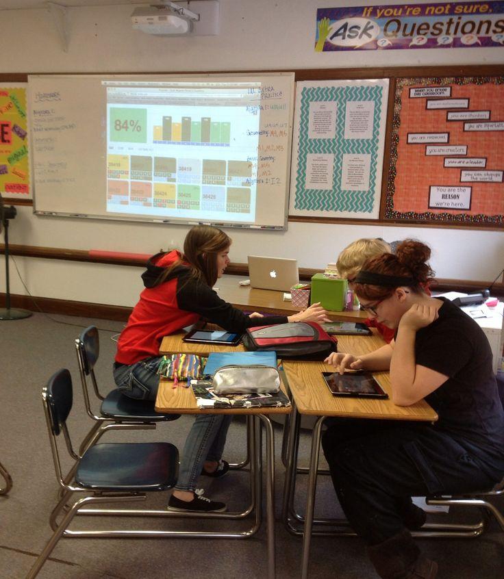 Ms. Mogolov's class busy using ExitTicket