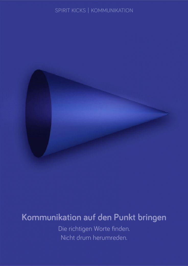 New SPIRIT KICK now Kommunikation auf den Punkt bringen u einfach die blaue Form anschauen und