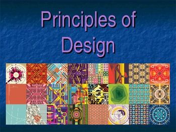This 66 slide presentation covers the Principles of Design. It is framed with discussion questions and has an interactive quiz. The final slide has a quiz students can take as a pretest or as a final assessment. Teachers can also have students use the quiz as a tool to guide the presentation.