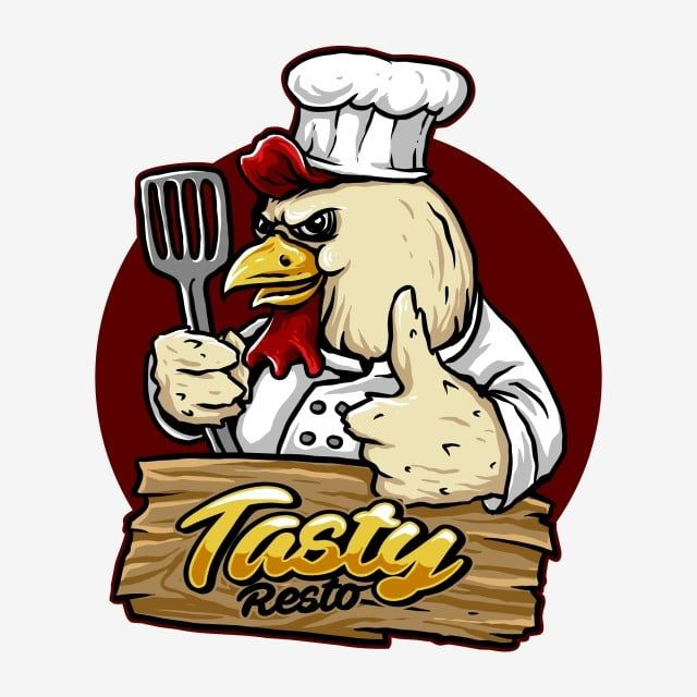 Vector Of Chicken Chef Character Suitable For Restaurant Logo Food Design Or Merchandise Chef Hat Red Mascot Png Transparent Clipart Image And Psd File For F Logo Restaurant Logo Food Chicken