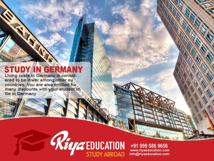 Study in Germany: Living Costs in Germany is Considered to be the Lowest among Other EU Countries!! You are also Entitled to MANY DISCOUNTS with Your Student ID. BE IN GERMANY!!! Click Here to know more http://www.riyaeducation.com/   #BeInGermany #StudyinGermany #StudyAbroad #iubh #College #HigherEducation #RiyaEducation #StudyinEU