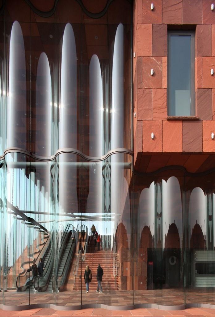 Antwerpen, België - MAS Museum. Prachtig uitzicht over de stad