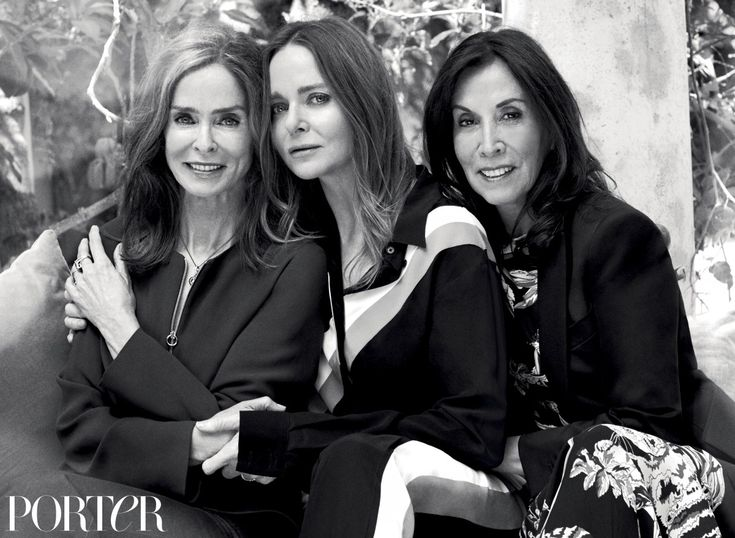 "Barbara Bach Starkey, Olivia Harrison & Stella McCartney all wear Stella McCartney, photographed by Bjorn Iooss for PORTER. From The Daily Front Row, Fashion Week Daily ""Yeah, we're all family. We're..."