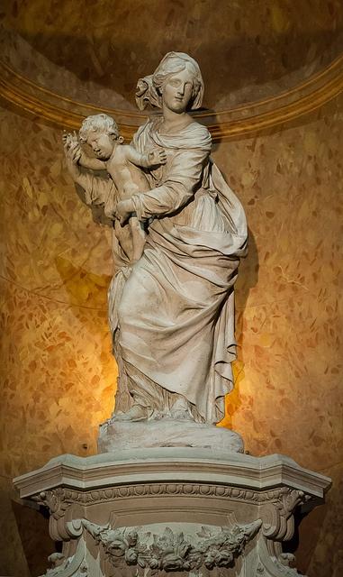 """""""Notre-Dame de Grâce"""" (Antoine Coysevox), église Saint-Nizier, Lyon"""
