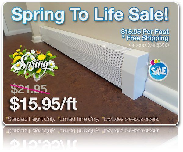 Special Sale On Ez-Snap Baseboard Heater Covers                                                                                                                                                      More