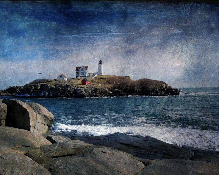 Maine Lighthouse Winter coastal seascape photography on 500px