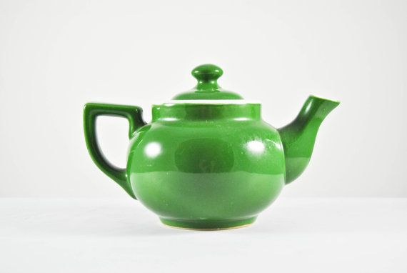 Vintage Green Clay Japanese Teapot for brewing your concoctions - island style  by DearMacyVintage on Etsy, $14.00