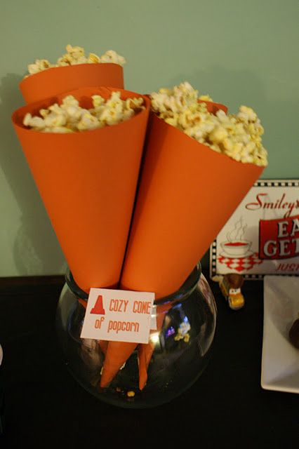 Cars Cozy Cone of Popcorn, but I will use pirate booty :)