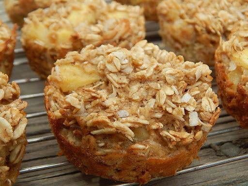 Pineapple coconut oatmeal muffins 3 Smart Points each