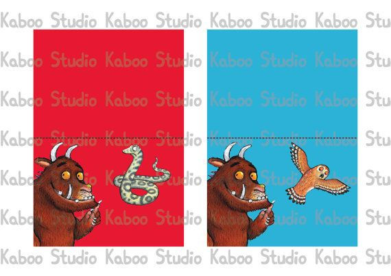 Instant Download Food Tents Gruffalo Food Labels by KabooStudio, €2.00
