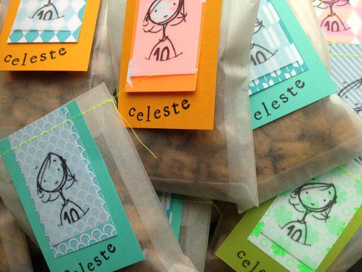 Zakjes met lekkers en een mooi persoonlijk label