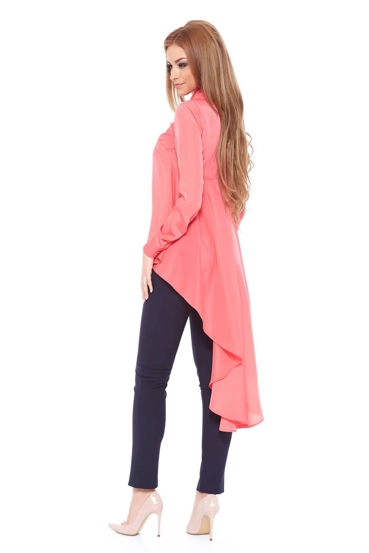 PrettyGirl Distraction Coral Blouse