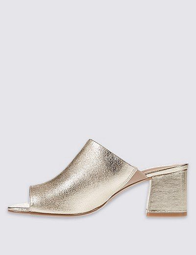 Block Heel Mule Shoes with Insolia® | Marks & Spencer London