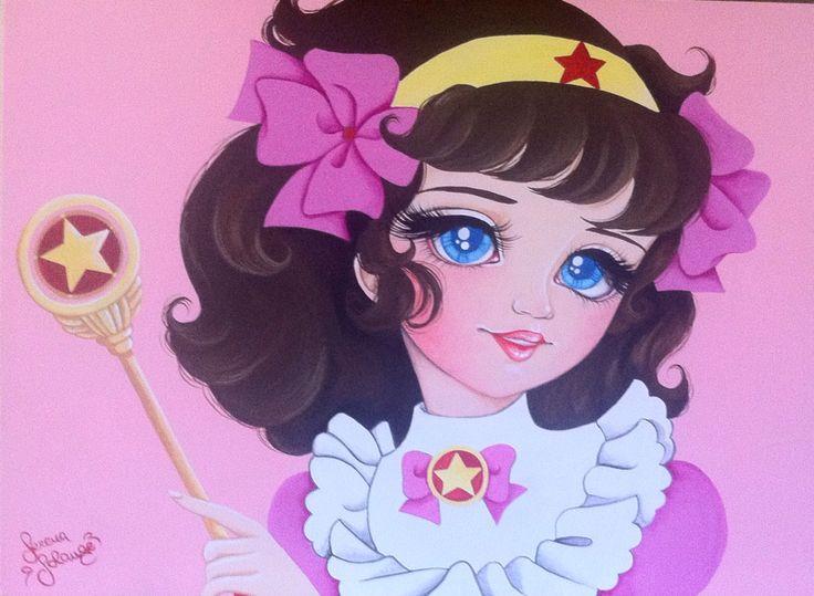 """""""Lalabel"""" Acrilico su legno Serena Solange Carluccio #pink"""