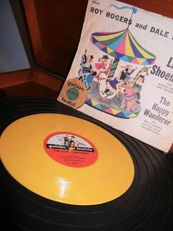 Roy Rogers and Dale Evans 78 RPM Vintage Record: The Little