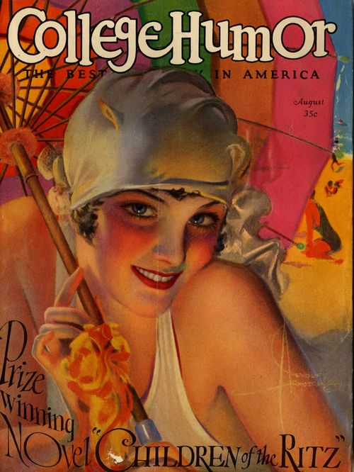 College Humor Cover, August 1927, artwork by Rolf Armstrong