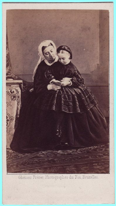 Queen Victoria and Princess Beatrice by Ghémar Frères of Brussels