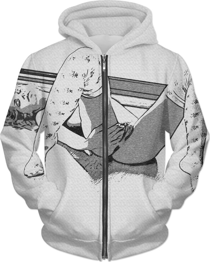 Adult erotic hoodies series - awaiting her lover return, sexy red haired girl in kinky pose and knee high socks, black and white version - for more art and design be sure to visit www.casemiroarts.com, item printed by RageOn at www.rageon.com/a/users/casemiroarts - also available at www.casemiroarts.com This product is hand made and made on-demand. Expect delivery to US in 11-20 business days (international 14-30 business days). (time frames are aproximate) #hoodie #clothing #style #hoody…