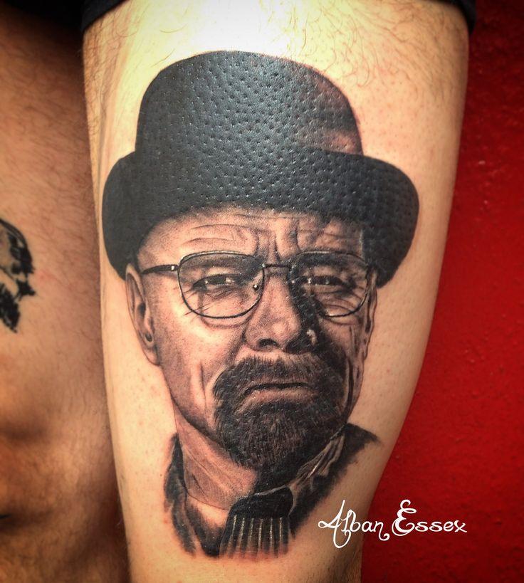 Portrait Tatouage Tattoo Walter White - Alban Essex