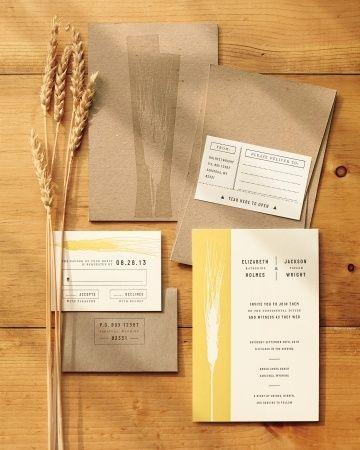 Rustic Wedding Ideas, Modernized- wheat inspired Invites
