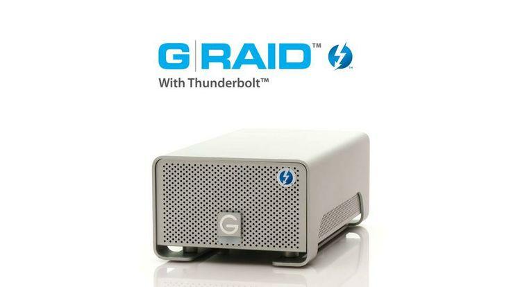 G-RAID™ with Thunderbolt™ Ultra-fast, high-performance Thunderbolt interface technology.