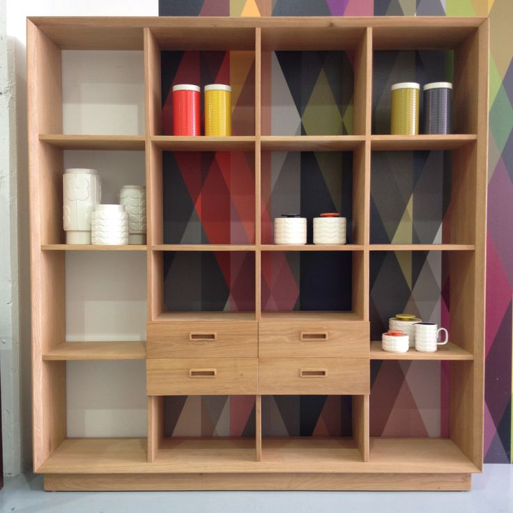 Beautifully mad Scandi bookshelf which is perfect for displaying our retro pieces.