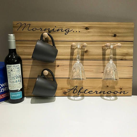 Coffee Wine Carved Wood Sign
