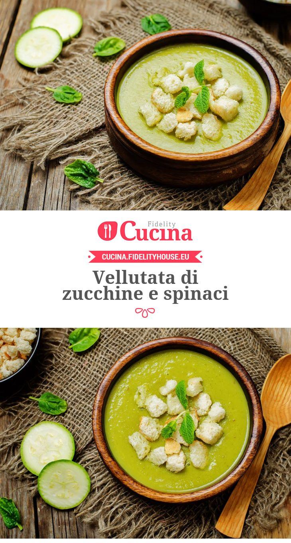 Vellutata di zucchine e spinaci