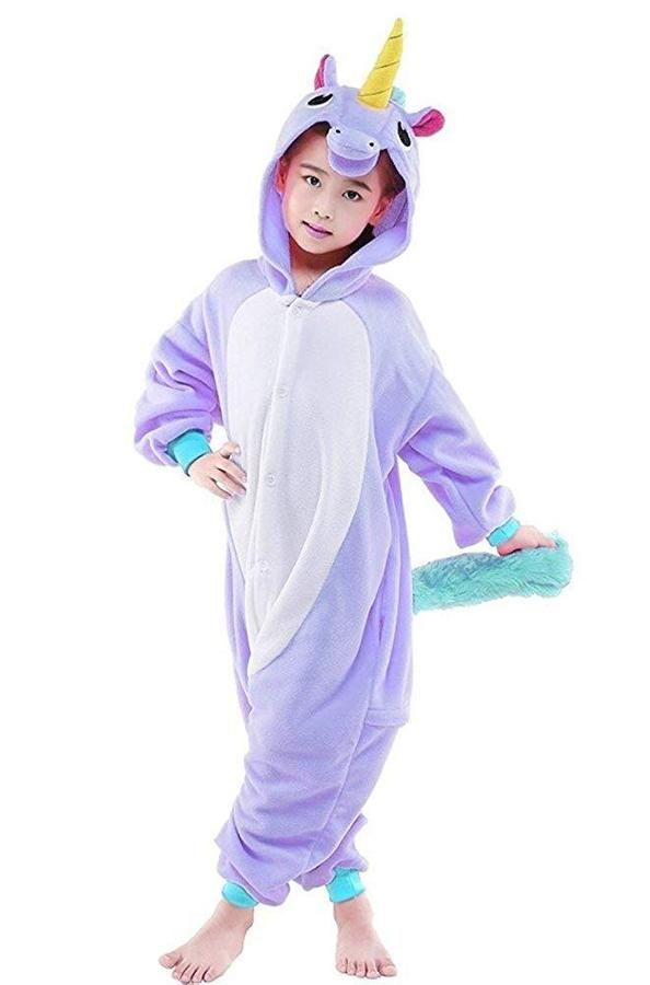 Unisex Children Onesie Animal Pajamas One-Piece Cosplay Halloween Costumes
