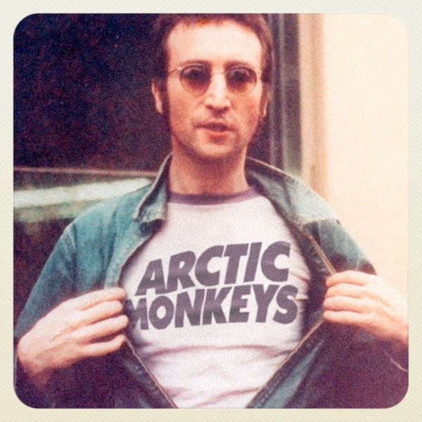 Lennon in an Arctic Monkeys tee — Classic musicians in shirts of future bands they'd inspire [10 pics]