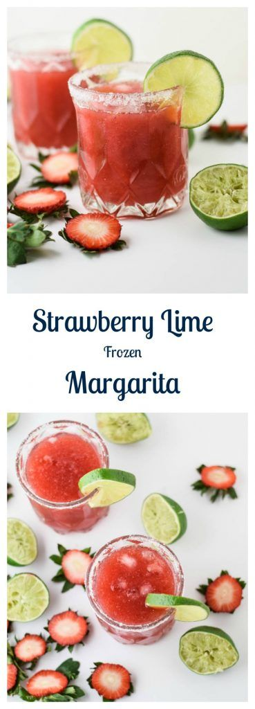 Strawberry Lime Frozen Margaritas are a refreshing and delicious way to celebrate spring and Cinco de Mayo! | Beer Girl Cooks