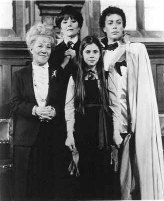 """Tim Curry, Fairuza Balk, Diana Rigg, and Charlotte Rae  """"The Worst Witch (1986)"""