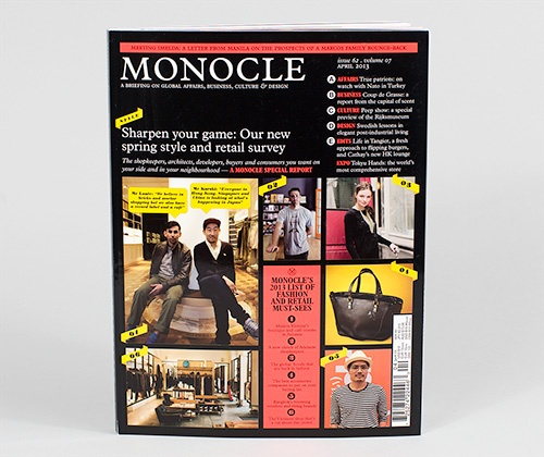 Monocle is a UK-based #magazine that focuses on global affairs, business, culture and design.
