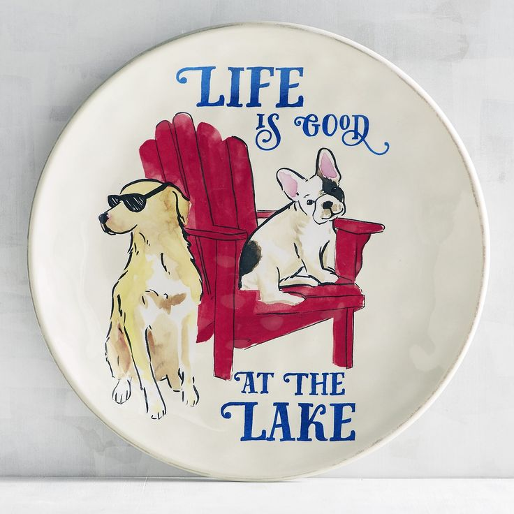 Life Is Good At The Lake Melamine Salad Plate