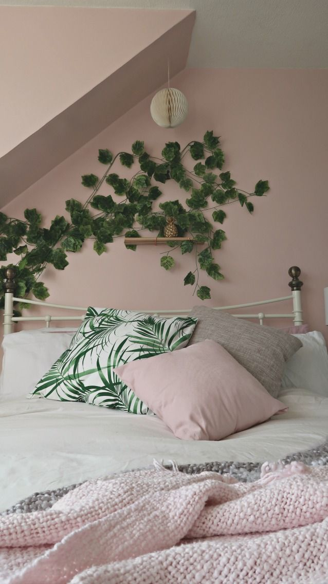 Grey green and white room decor