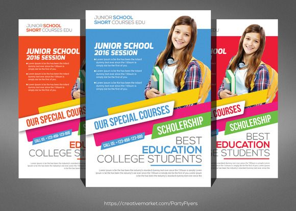 19 best flyer images on Pinterest Flyer template, Education and - school brochure template