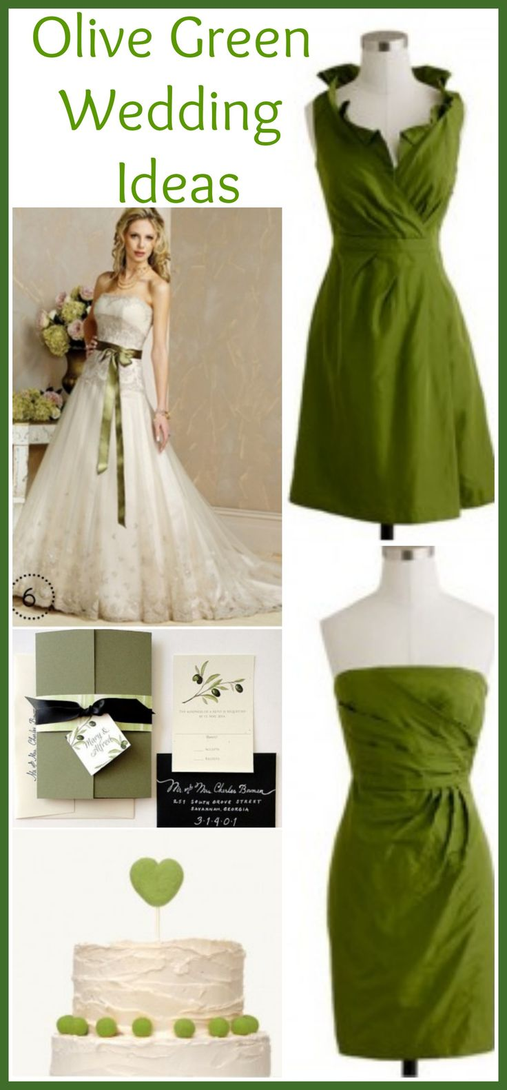 1000 images about olive wedding on pinterest green for Olive green wedding dresses