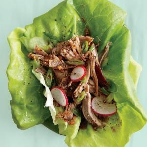 Pulled Pork Lettuce Wraps   MyRecipes.com