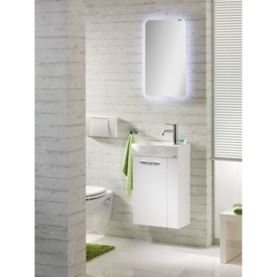 Stunning fackelmann G ste WC Set Vadea tlg Hochglanz wei Jetzt bestellen unter https moebel ladendirekt de bad badmoebel badmoebel sets uid udd